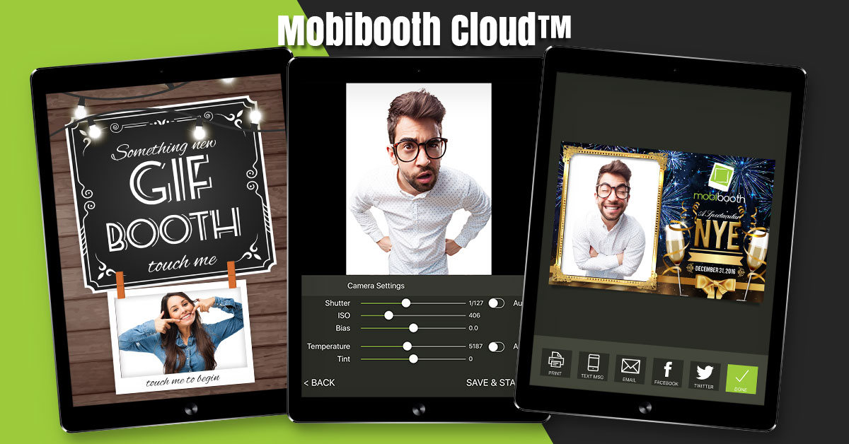 Mobibooth Cloud™ iPad Photo Booth Software for Brands