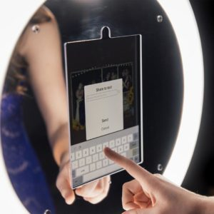mirror photo booth kiosk