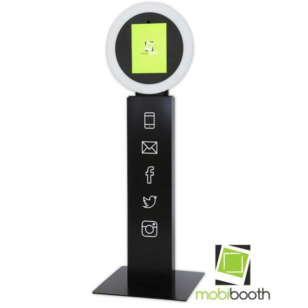 Mobibooth Aura™ photo booth kiosk black