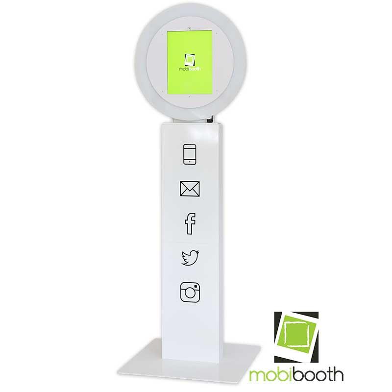 Mobibooth Aura™ photo booth kiosk white