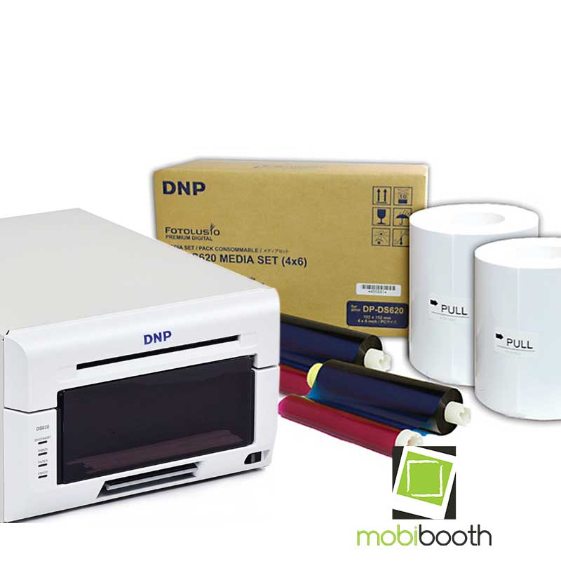 Dnp Ds620a Photo Printer 4x6 Media Bundle Mobibooth Photo Booths