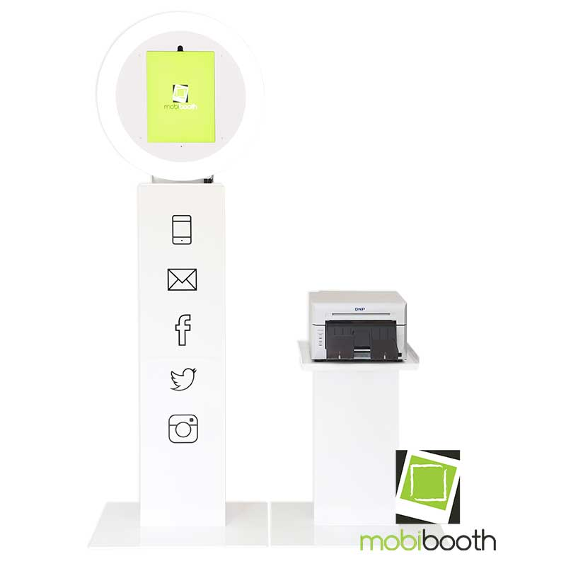 Mobibooth Aura™ with printer stand
