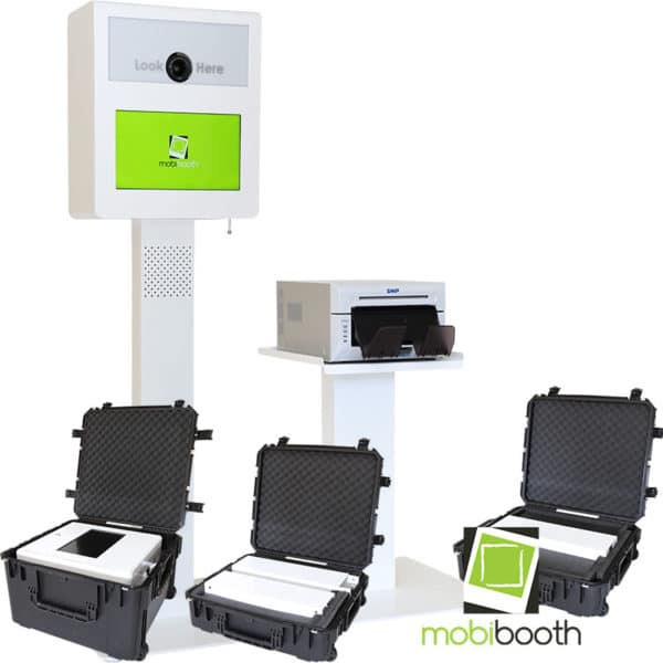 white mobibooth encore dslr photo booth for sale core