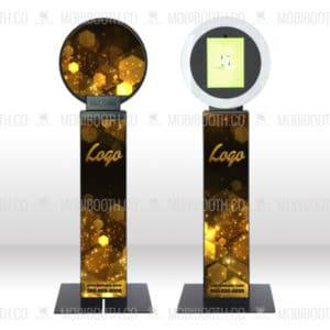 Gold Hexagons Wrap Design