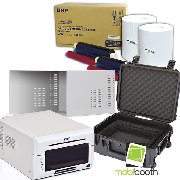 dnp 620 dye sub printer + cover + rolling case + 800 print media pack